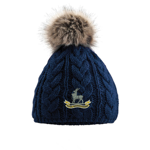 Royal Warwickshire Regiment Pom Pom Beanie Hat