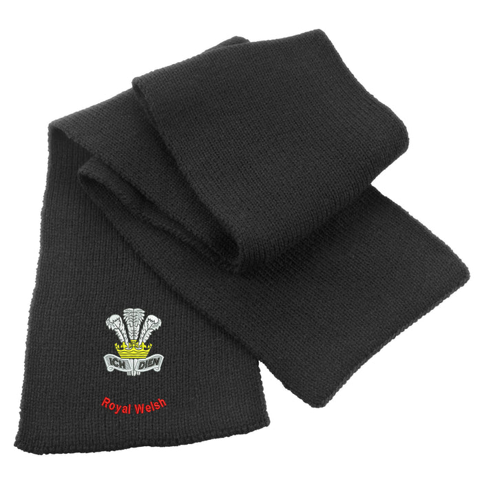 Royal Welsh Heavy Knit Scarf