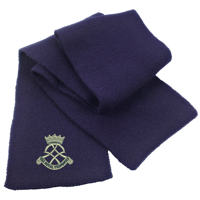 Royal Yeomanry Heavy Knit Scarf