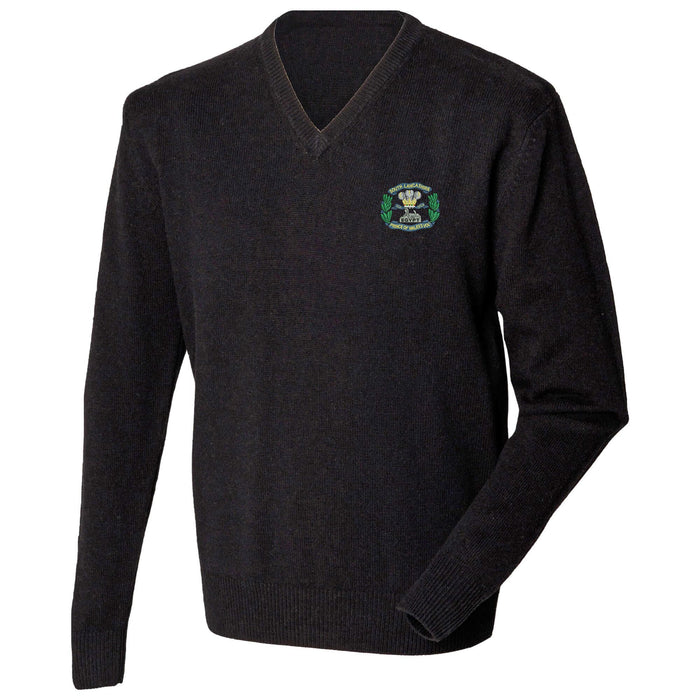 South Lancashire Regiment Lambswool V-Neck Jumper