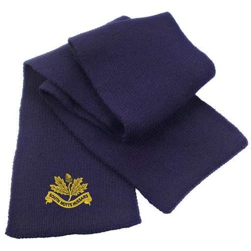 South Nottinghamshire Hussars Heavy Knit Scarf