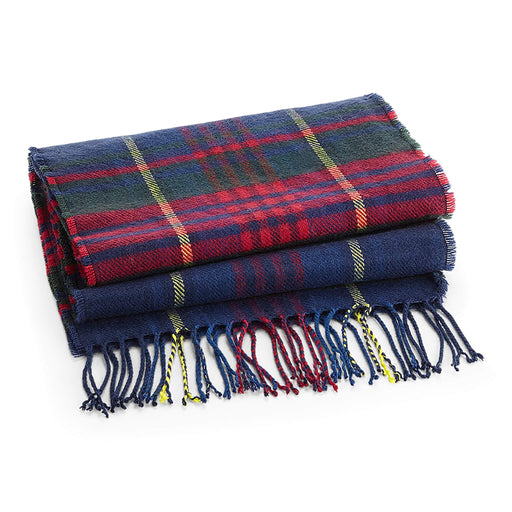 Navy Submariner Classic Check Scarf