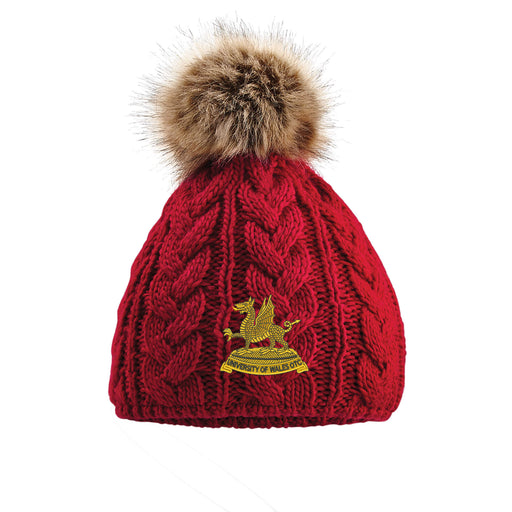 Wales Universities Officers Training Corps Ladies Pom Pom Beanie Hat