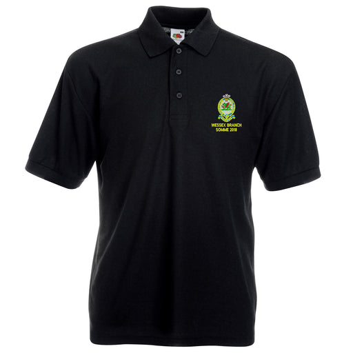 Queens Regiment Wessex Branch Somme 2018 Reunion Polo Shirt