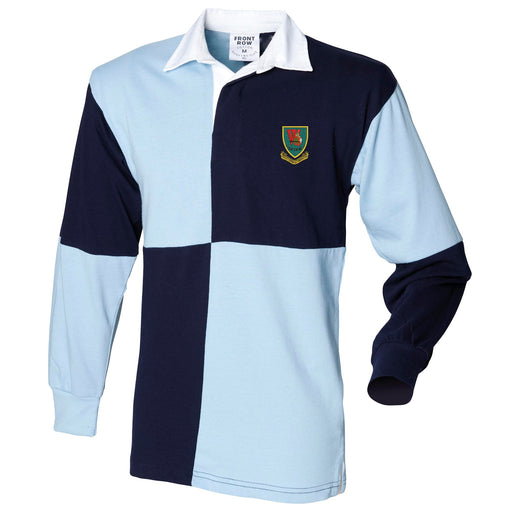 Whiskey Company 45 Commando Long Sleeve Quartered Rugby Shirt