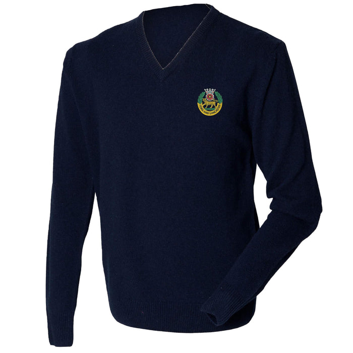 York and Lancaster Regiment Lambswool V-Neck Jumper