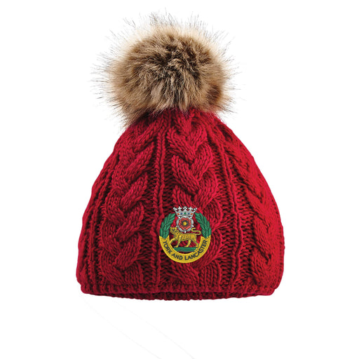 York and Lancaster Regiment Pom Pom Beanie Hat