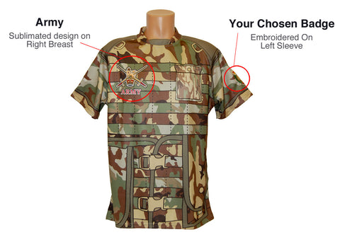 Camo Rugby Shirt With Embroidery - The Military Store