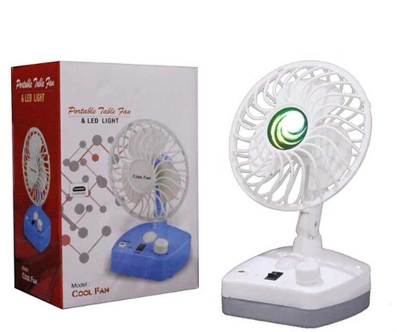 Portable Table Fan & LED Light