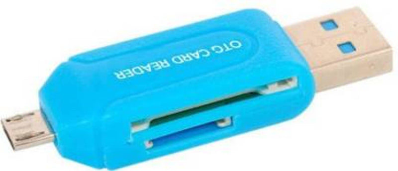 Apro OTG Micro SD + TF Card Reader Blue