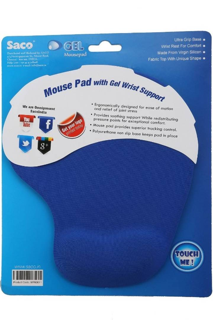 Comfortable Mousepad with Non-Slip PU Base, Pain Relief Mouse Pads for Computers, Laptop, Mac, Home & Office