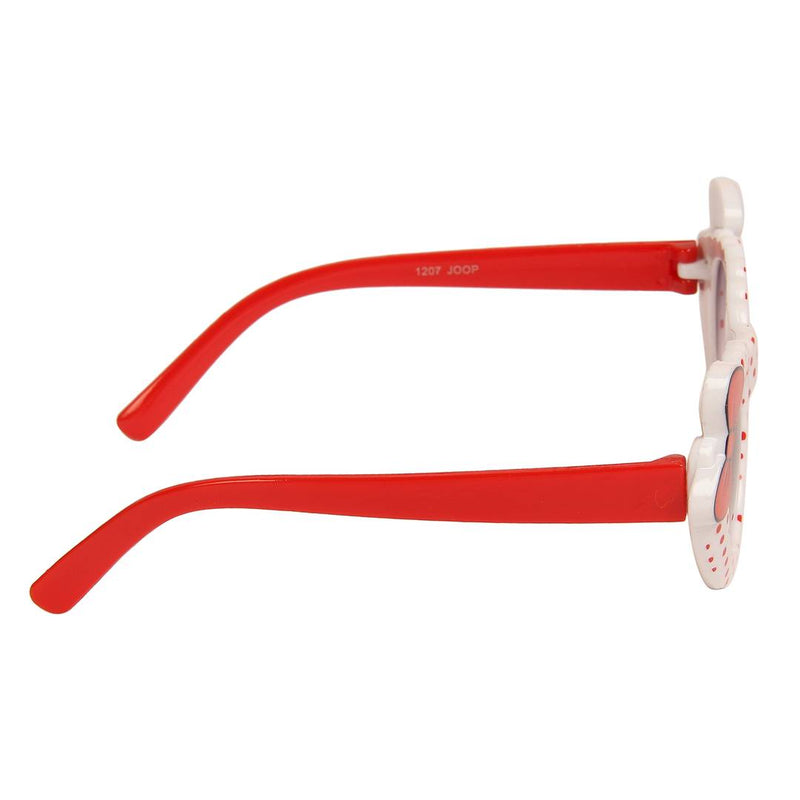 White Cat-Eye Full Rim UV Protected Sunglasses for Girls