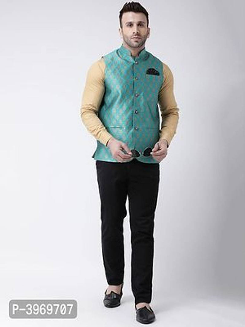 Polyester Jacquard Jacquard Ethnic Jacket For Men