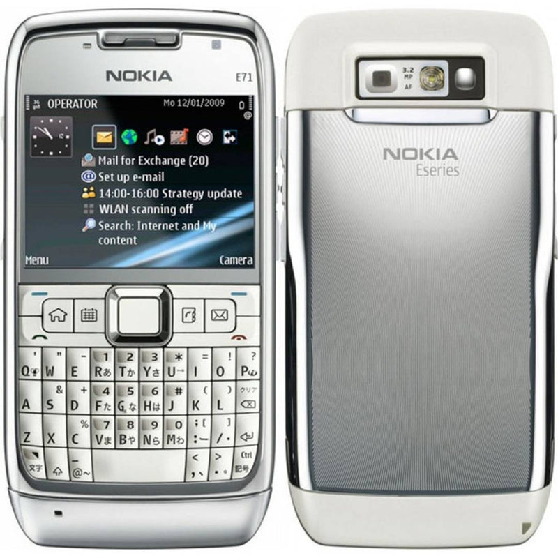 Refurbished Nokia E71 Mobile Phone White (6 Months Warranty)