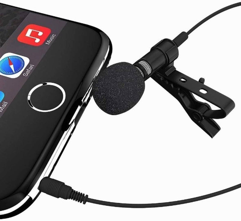SelfieSeven CMC Collar Mic Clip Microphone for Youtuber, Voice Recording, Pc, Laptop, Android Smartphones 3.5mm (1.4 Meter) ,-01 Piece-1.4 m/frequency range-30Hz~15000Hz./For Youtuber, Voice Recording
