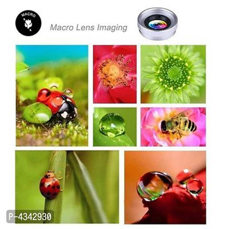 Universal Clip Lens 3-In-1 Mobile Phone Camera Lens Kit 180 Degree Fisheye Lens + 0.67X Wide Angle + 10X Macro Lens For All Latest Android Smartphones