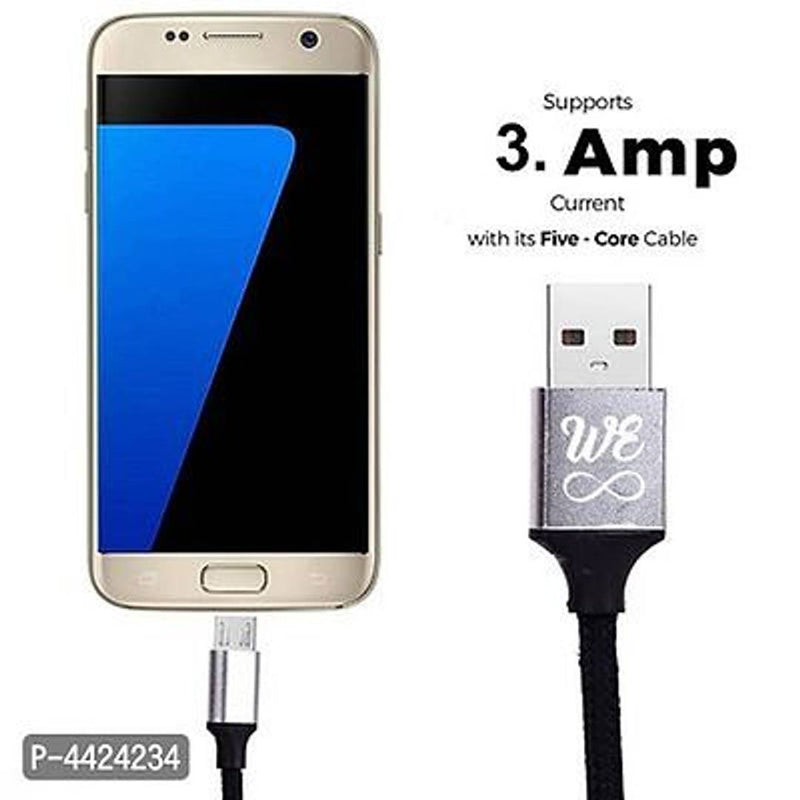 V8 Micro USB Black Charging Cable - 1 Metre