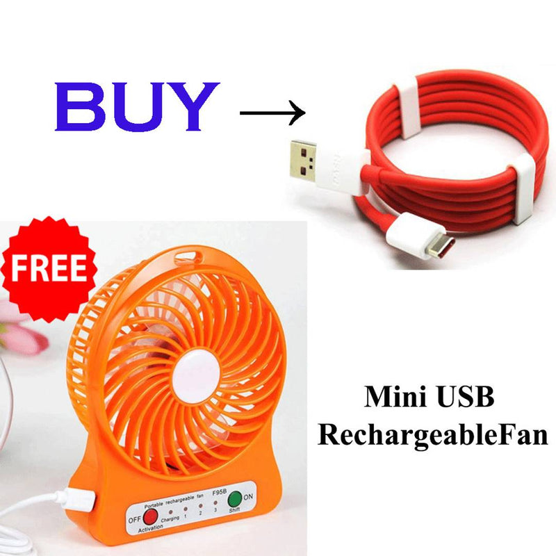 type c data cable along with USB Fan (Combo)