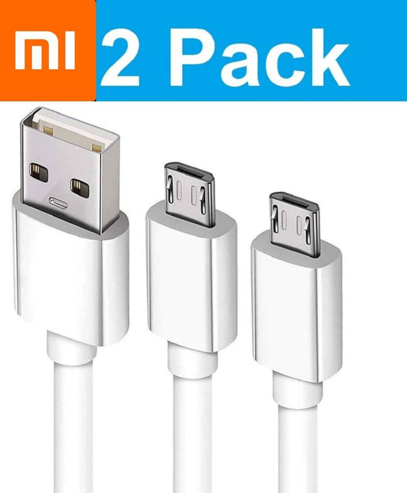 HEARME Combo Of Dual USB 2.4A Fast Phone Charging Micro USB Charge Cable For MI