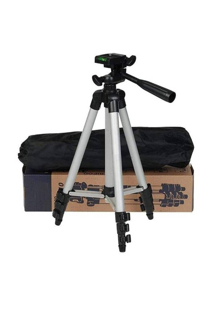 Imaginal Tripod 3110 Smart Aluminium Adjustable Portable and Foldable Tripod Stand Clip and Camera Holder