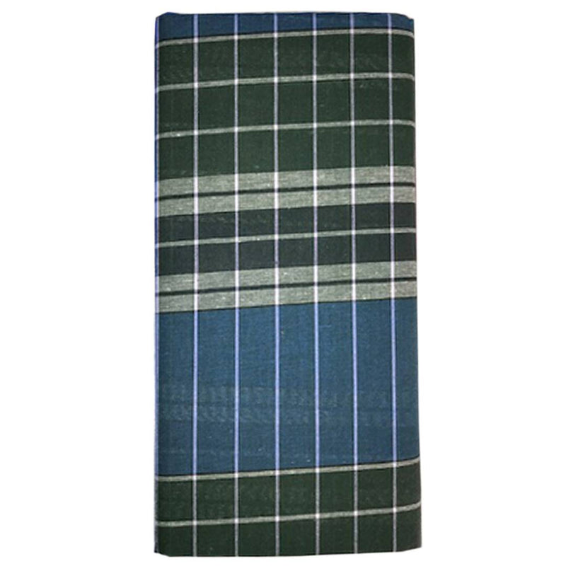 Modern Multicoloured Cotton Checked Lungi For Men
