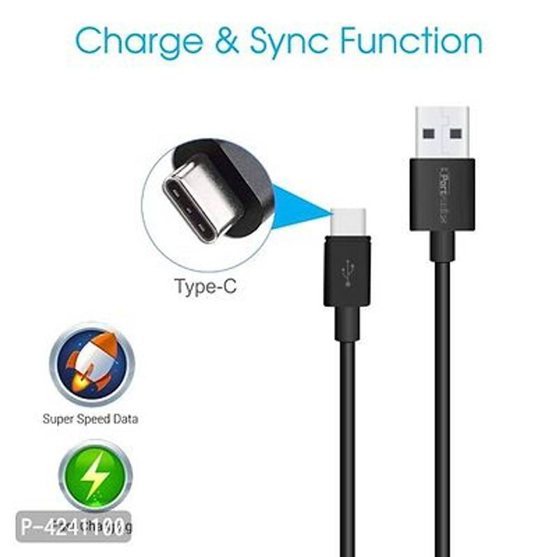 Portronics POR-656 Konnect Core 1M Type C Cable With Charge & Sync Function
