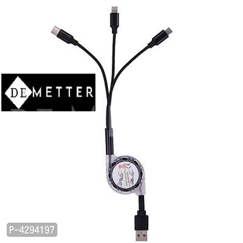 DeMetter 3-In-1 Charging Retracting Cable - Yoyo M