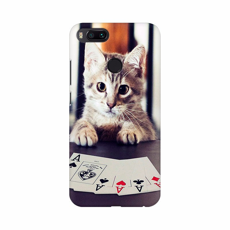 Cat Playing Poker Cards Mobile case cover