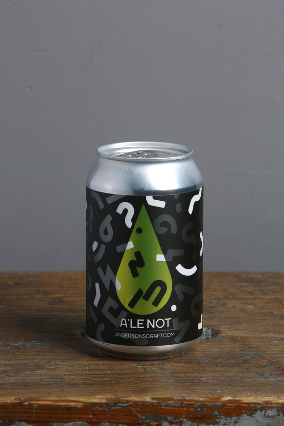 Estonian craft beer - A'le not lager from Anderson's Brewery
