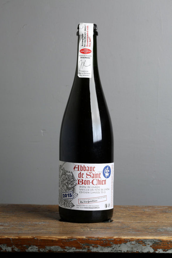2015 edition of Abbaye de Saint Bon-Chien ale from BFM, 750 ml bottle