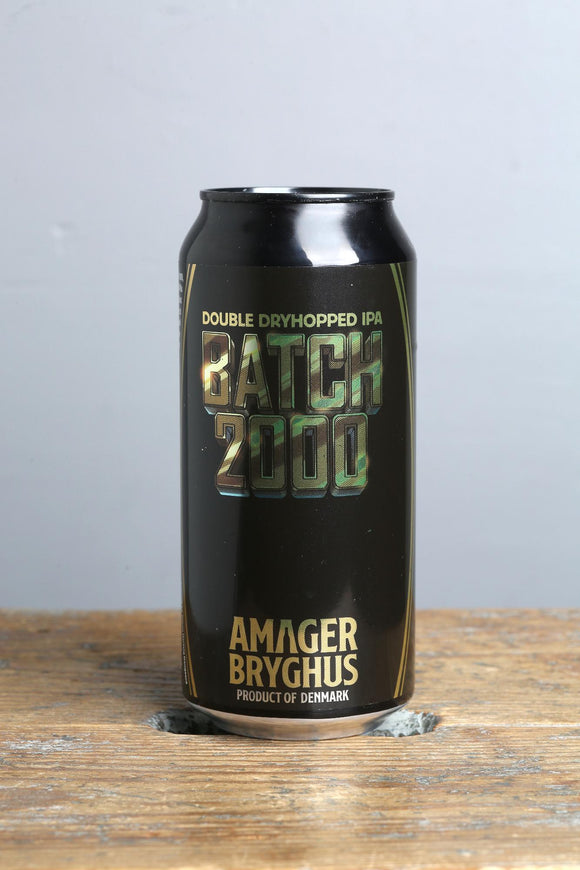 Batch 2000 Double Dryhopped IPA from Amager Denmark, 440 ml can