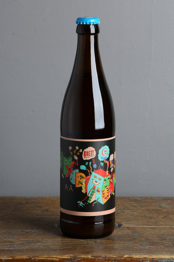 A bottle of Brett C by Prarie. A wild farmhouse ale with brettanomyces. Available at Beerfox in Riga.