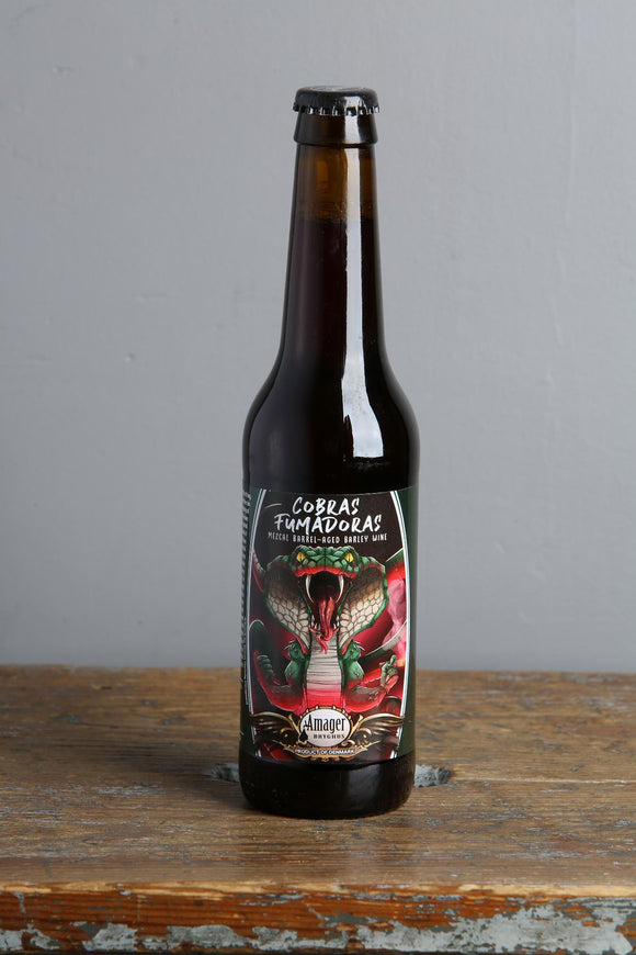 A strong barrel-aged Barleywine flavoured with Mezcal