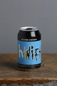 American IPA Get Shwifty in a 330ml can. Flying Couch Brewery
