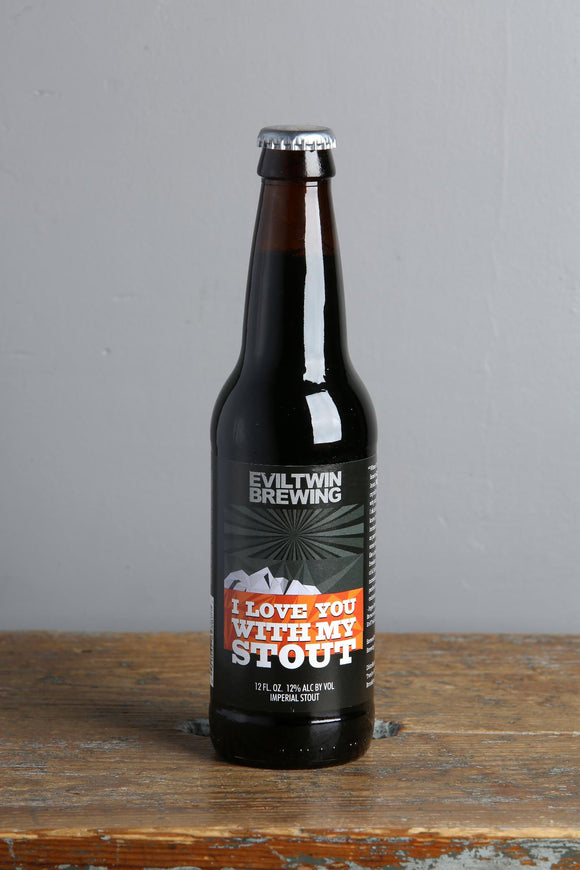 I love you with my stout is an imperial stout from Evil Twin Brewing