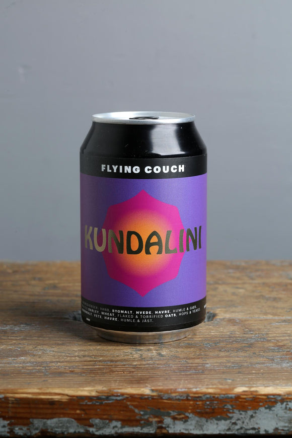 India Pale Ale in a 330 ml can from Flying Couch, Denmark.