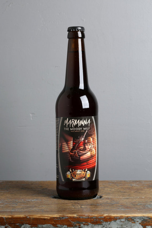Barleywine from Amager craft brewery, Denmark.
