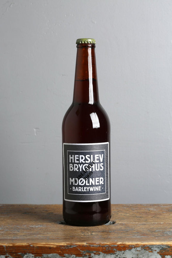 Herslev craft beers. 500 ml bottle of Mjolner barleywine.