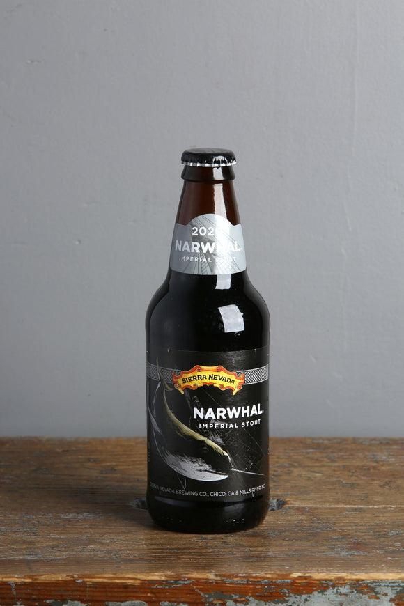 Strong dark beer from the USA, Sierra Nevada Narwhal.