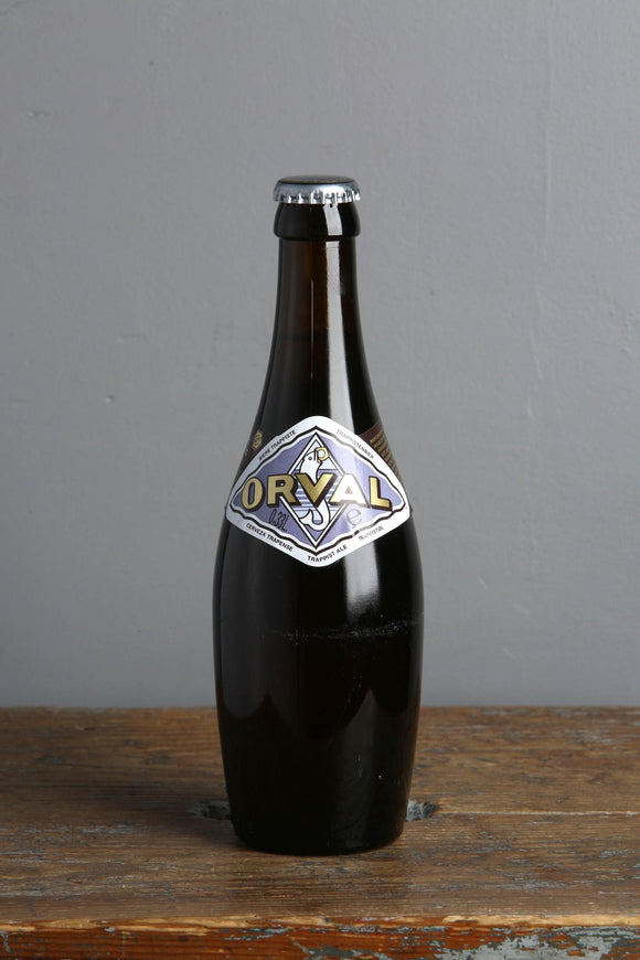 The famous belgian trappist beer, Orval pale ale from Belgium
