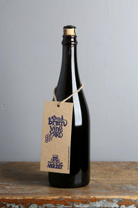 Belgian Flanders brown ale with grapes, barrel-aged
