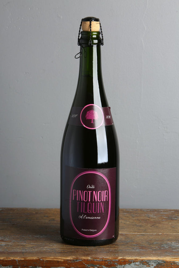 A blend of Belgian Lambic beers with Pinot Noir grapes. 750ml bottles for sale in Riga.
