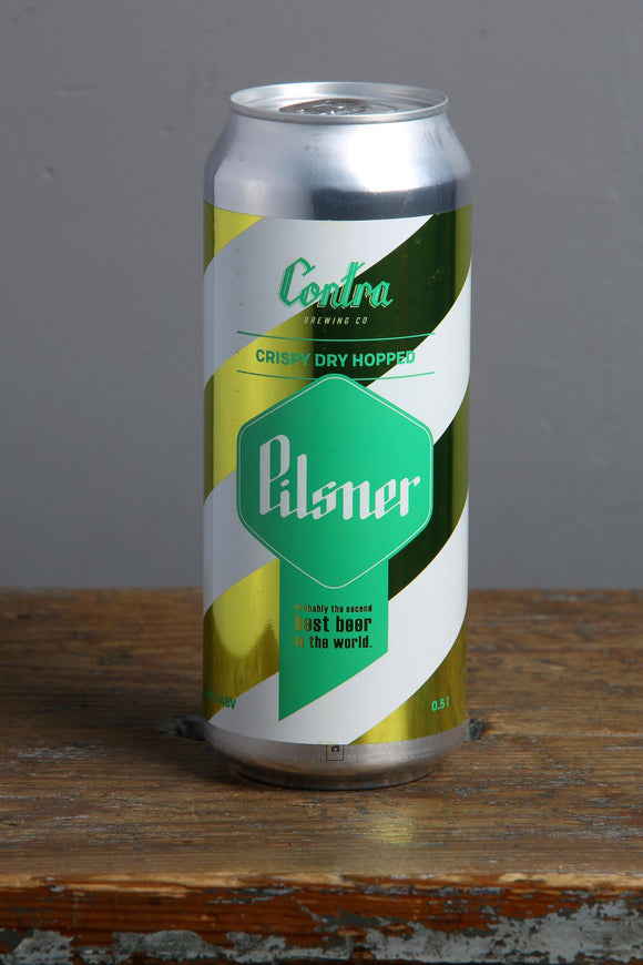 Pilzenes stila alus no Contra Alusdarītavas. 500ml can.