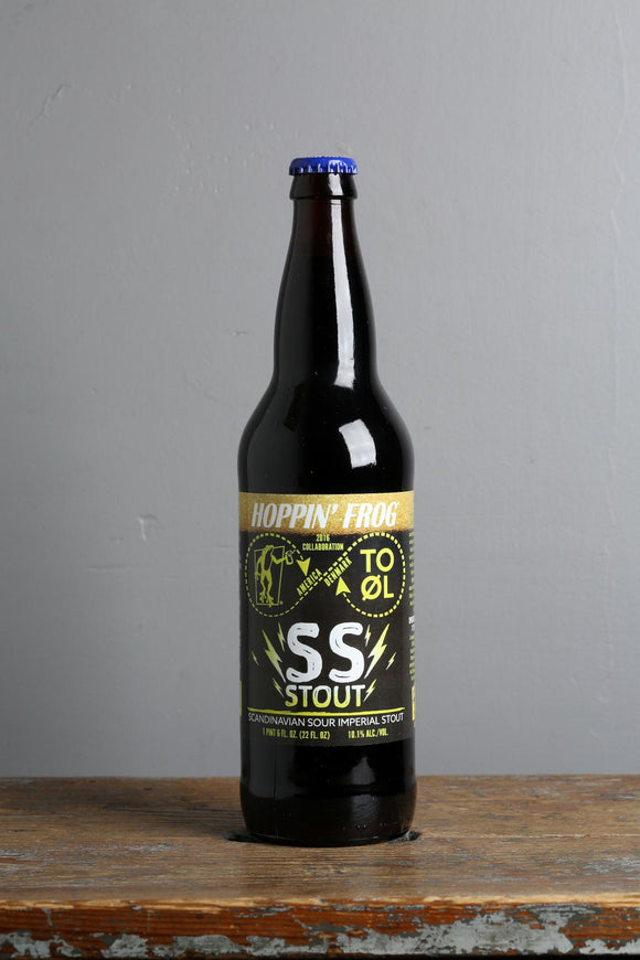A collab with TO OL, a sour imperial stout by Hoppin' Frog craft beers, USA