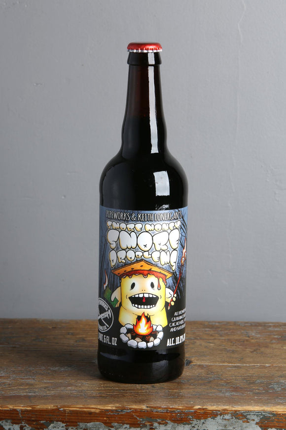 Imperial stout with graham crackers, cacoa nibs and marshmellows from Pipeworks craft beer brewery.