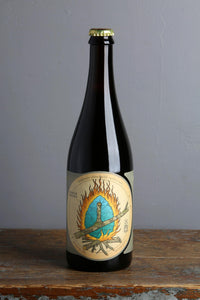 A 750 ml bottle of Jester King's smoked farmhouse altbier.