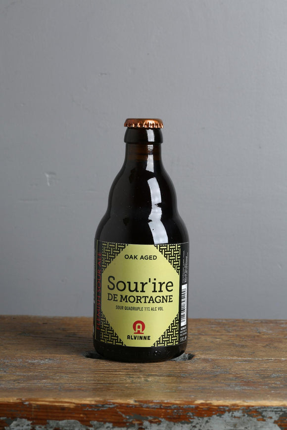 A sour Belgian barrel aged quadrupel beer available at Beerfox