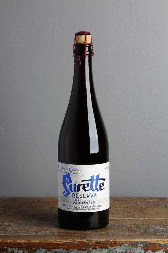 A Belgian style Surette sour beer from American brewery Crooked Stave.