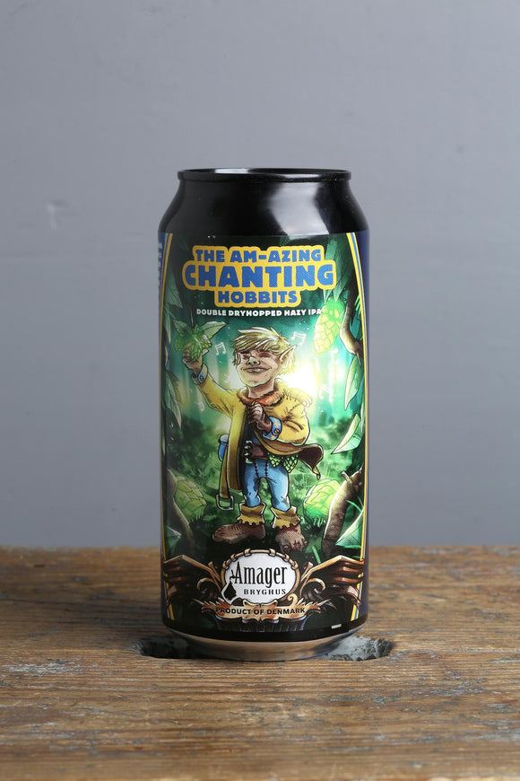 The Am-azing chanting hobbits DDH IPA craft beer in a 440 ml can from Amager, Denmark