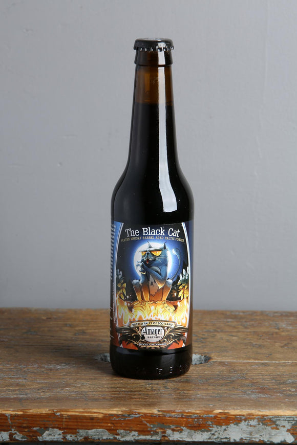 A Baltic Porter, the Black Cat is aged in whisky barrels. 330ml bottle available in Riga.